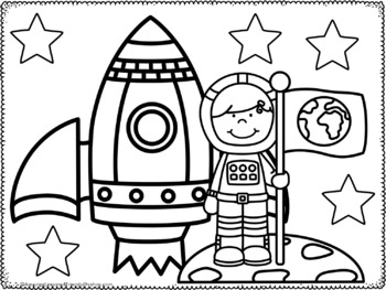 Outer Space Coloring Sheets