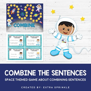 Outer Space Combine the Sentences Board Game