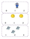 Outer Space Counting clip cards