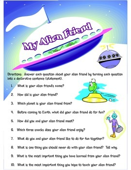 Outer Space Creative Writing Activity: My Alien Friend