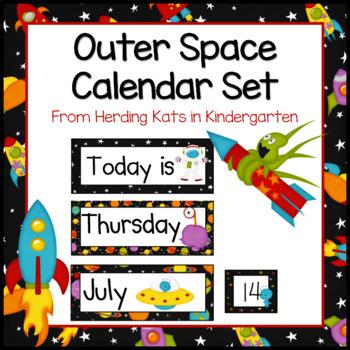 Outer Space Decor: Calendar Set