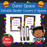 Outer Space Editable Binder Covers and Spines