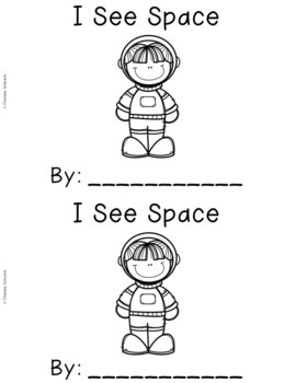 Outer Space Emergent Readers {Set of 5 Read and Write Books}