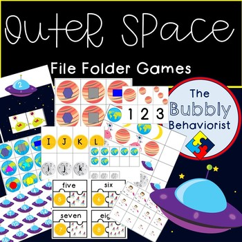 Outer Space File Folder Games