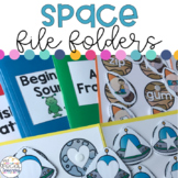 Outer Space File Folders for Special Education