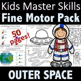 Outer Space Fine Motor Activities Pack - (With Math and Si