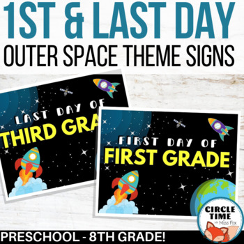Outer Space First Day Signs, Printable 1st Day of School Sign 2019-20