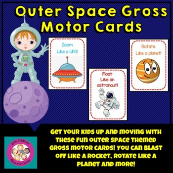 Outer Space Gross Motor Cards