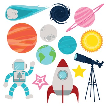 Outer Space Icons- Freebie 32 Pack