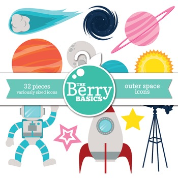 Outer Space Icons- 32 Pack