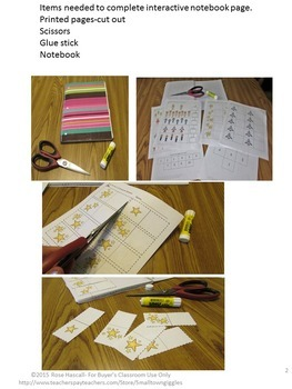 Space, Science, Interactive Notebook Cut and Paste Math Activities Special Ed