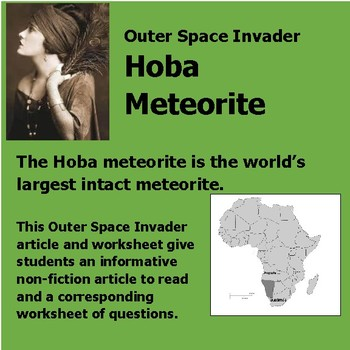 Outer Space Invader Hoba Meteorite Non-fiction literacy