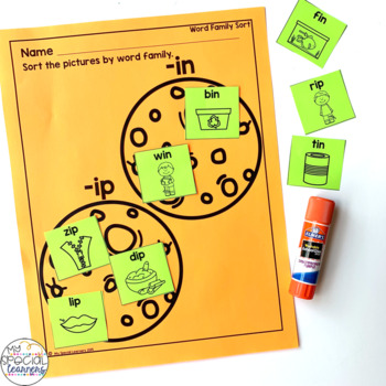 Outer Space Language Arts Printables for Special Education