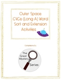 Outer Space Long A Word Sort and Extension Activities