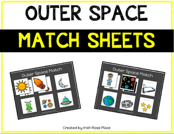 Outer Space Match Sheets