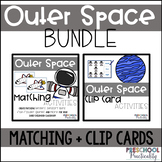 Outer Space Match and Clip Card Bundle for Toddlers, Presc