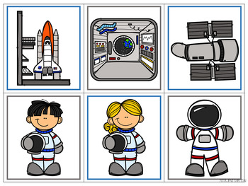 Outer Space Matching Activities for Toddlers, Preschool, and PreK