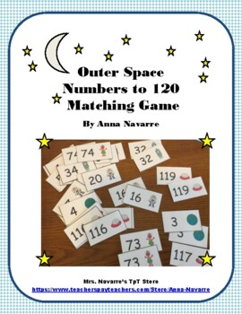 Outer Space Numbers 1-120 Matching Game
