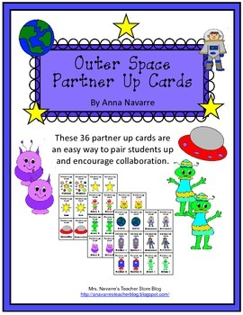Outer Space Partner Up Cards