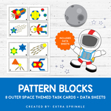 Outer Space Pattern Blocks Task Cards and Data Sheets