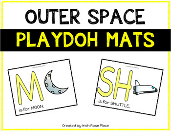 Outer Space Playdoh Mats