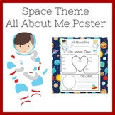 Outer Space Poster   Outer Space Classroom Theme   All About Me Poster