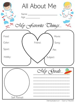 Outer Space Poster | Outer Space Classroom Theme | All About Me Poster