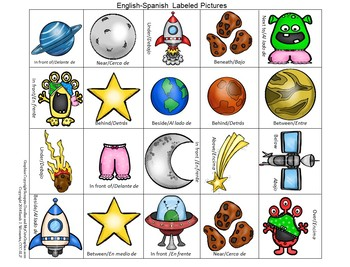 Outer Space Preposition Play-A Bilingual Expressive Language Activity