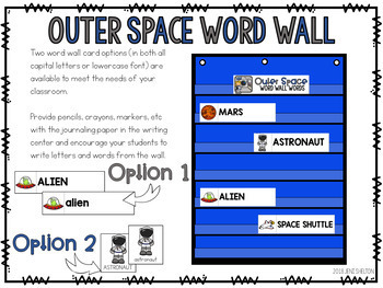 Outer Space Preschool Literacy Centers