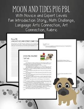 Space and Tides Project Based Learning (Waffles and Doughnut the Pug PBL STEAM)
