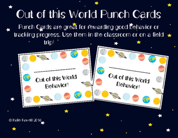 Outer Space Punch Cards