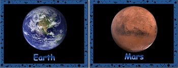 Outer Space Resources - Planet Posters and Flashcards
