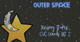 Outer Space Sensory Stakes: CVC Words Set 2