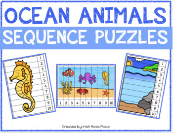 Ocean Animals Sequence Puzzles
