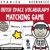 Outer Space Spanish Vocabulary Matching Card Game
