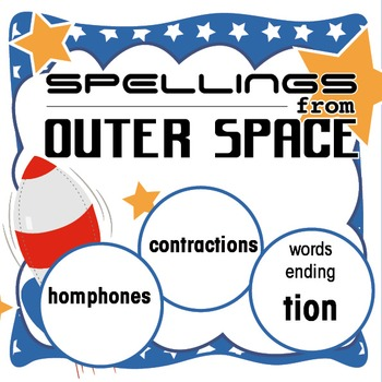 Outer Space Spellings 10: contractions/homophones/words th