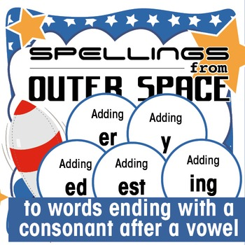Outer Space Spellings 7: Add ed/er/est/ing/y to words endi
