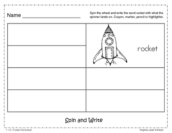 Outer Space Spin and Write