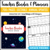 Space Teacher Binder