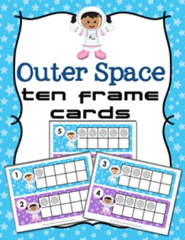 Outer Space Ten Frame Cards