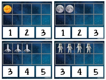 Outer Space- Ten Frame Cards