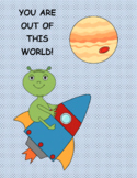 Outer Space Thank You Card