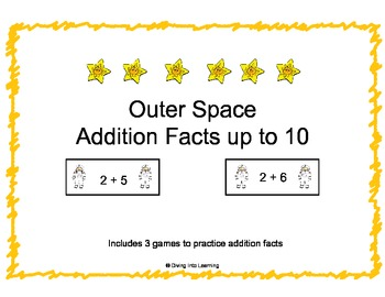 Outer Space Theme: Addition Facts Up to 10