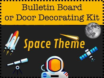 Outer Space Theme Bulletin Board Kit