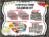 Outer Space Theme Calendar Kit