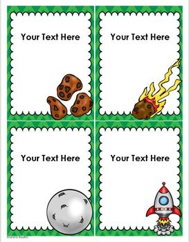 Outer Space Theme Classroom Labels Decorations Editable