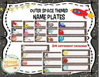 Outer Space Theme Name Plates