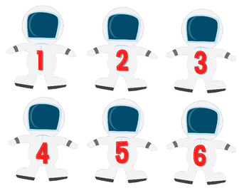 Outer Space Theme Student Numbers Kit