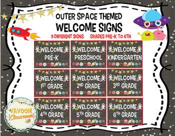 Outer Space Theme Welcome Sign