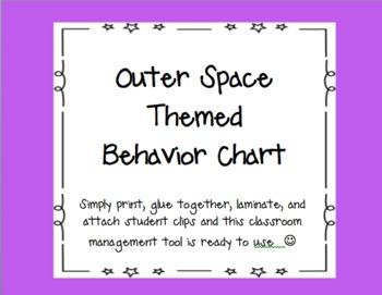 Outer Space Themed Behavior Chart